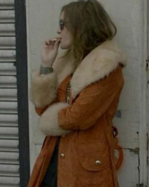 Mr. Robot Carly Chaikin Shearling Brown Coat