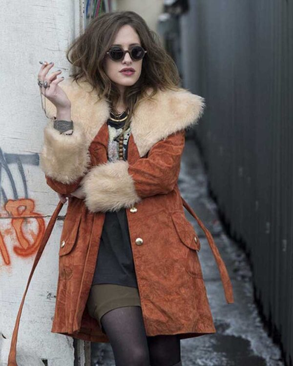Mr. Robot Carly Chaikin Shearling Coat