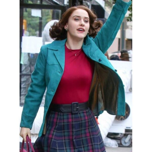 Rachel Brosnahan Blue Cotton Jacket