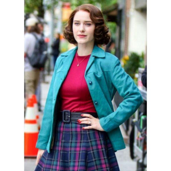 Rachel Brosnahan Blue Jacket
