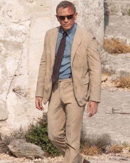 Daniel Craig Beige Suit
