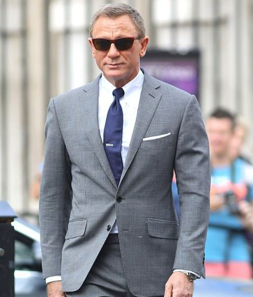 No Time To Die Daniel Craig Grey Suit