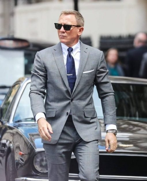 Daniel Craig Grey Glen Check Suit