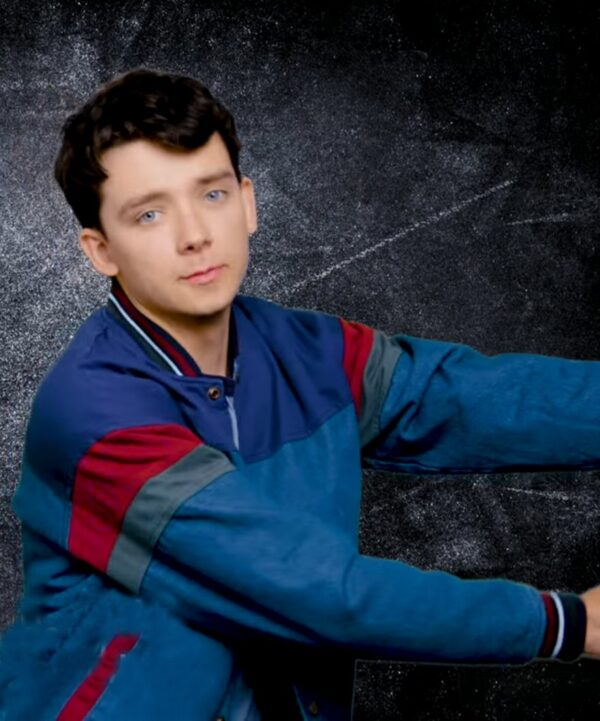 Asa Butterfield Blue Jacket