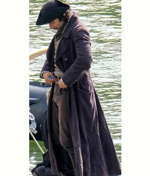 Aidan Turner Trench Wool Coat
