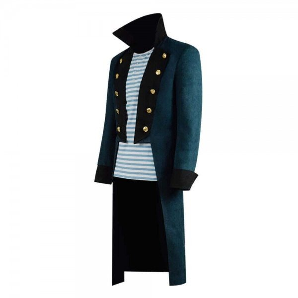Robert Downey Jr. Blue Trench Wool Coat