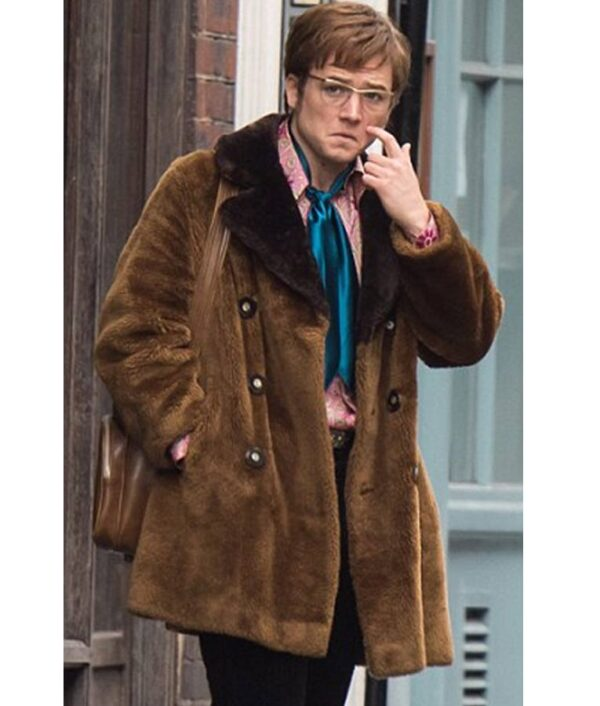 Rocketman Taron Egerton Brown Jacket