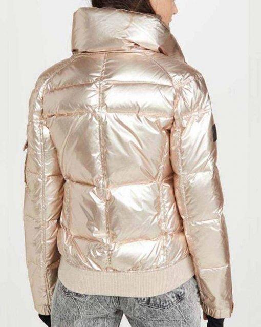 Amanda Zhou White Quilted Puffer Jacket