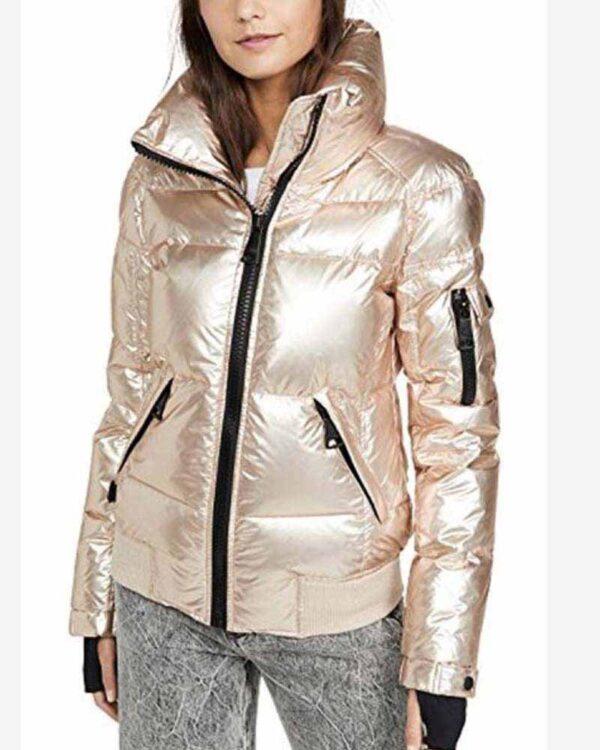 Amanda Zhou Quilted White Gold Jacket