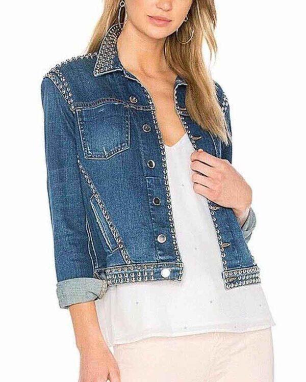 Amanda Zhou Studded Denim Jacket