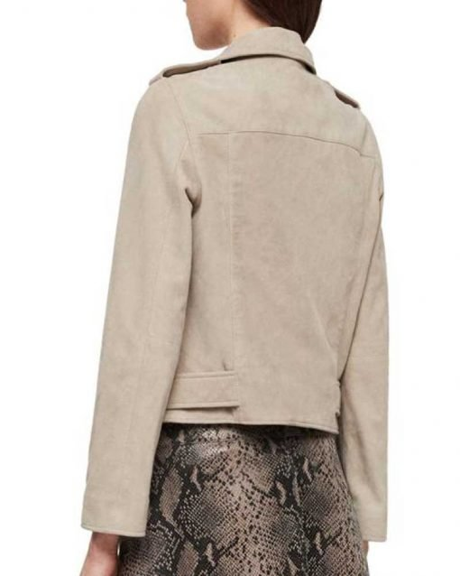 Kaya Scodelario Biker Grey Jacket