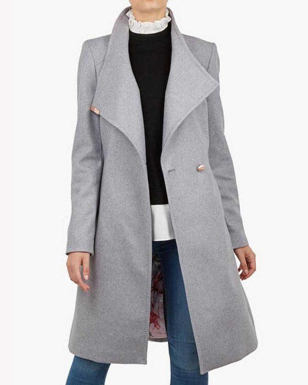 Sarah Wright Grey Trench Coat
