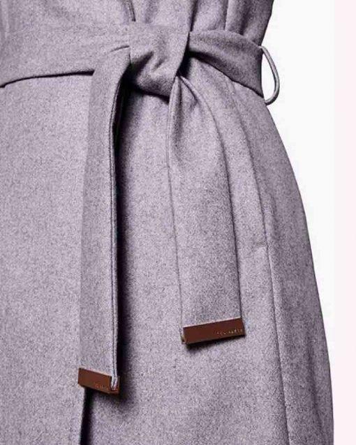 Sarah Wright Grey Wrap Coat