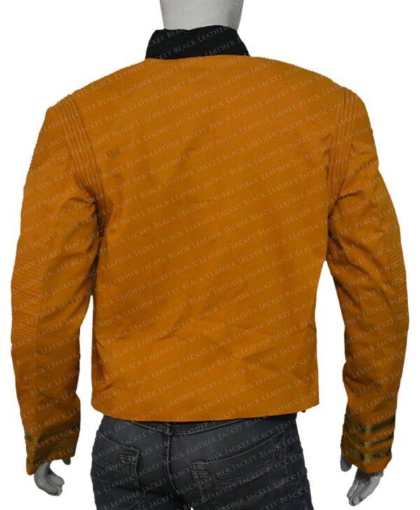Star Trek Captain Christopher Pike Yellow Jacket back