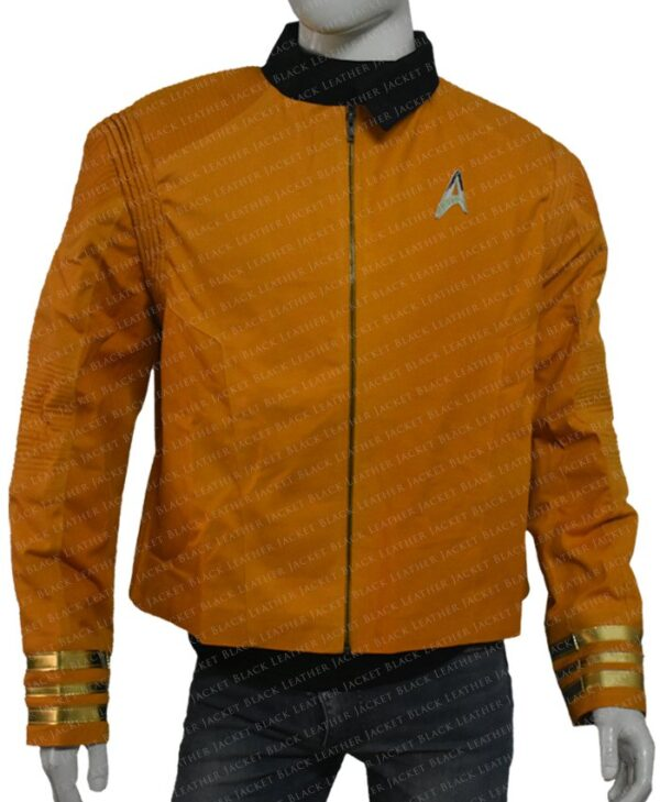 Star Trek Captain Christopher Pike Yellow Jacket Front