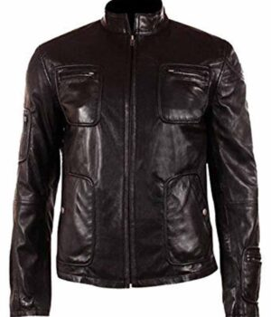 Chris Pine Black Leather Jacket