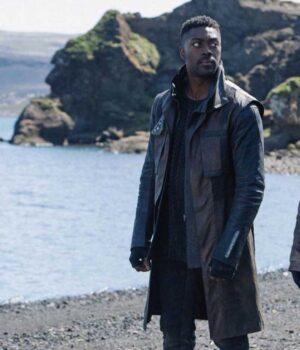 David Ajala Brown Coat