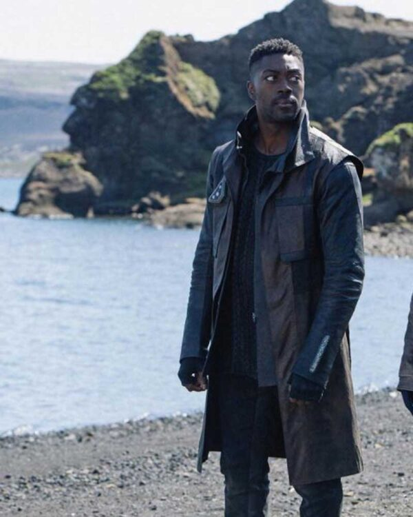 David Ajala Brown Coat