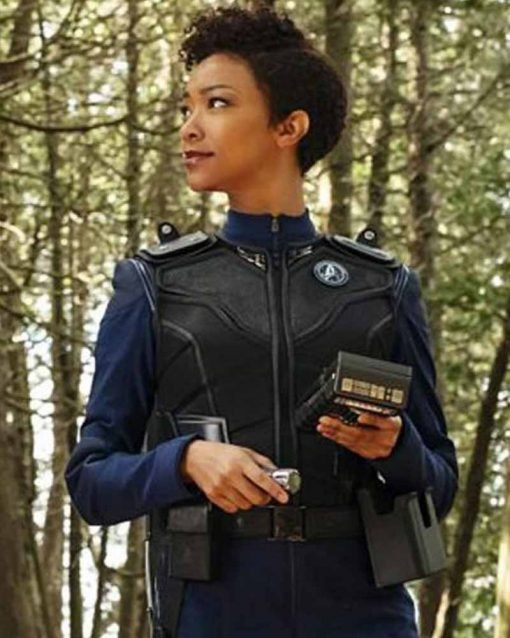Michael Burnham Leather Vest