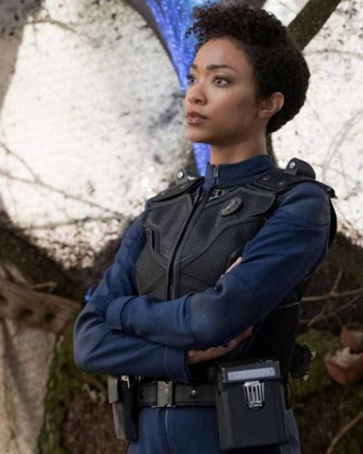 Michael Burnham Black Leather Vest