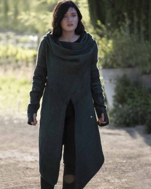 Isa Briones Green Hooded Coat