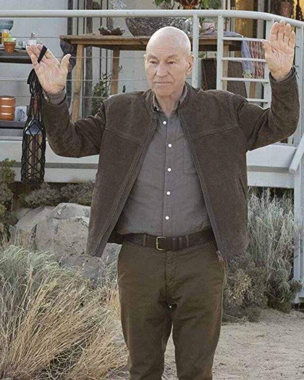 Patrick Stewart Brown Trench Coat