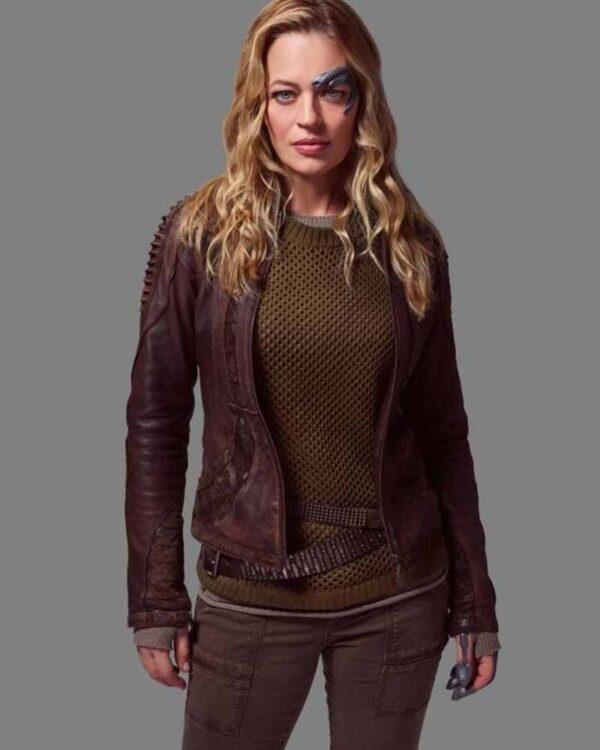 Jeri Ryan Seven Leather Jacket
