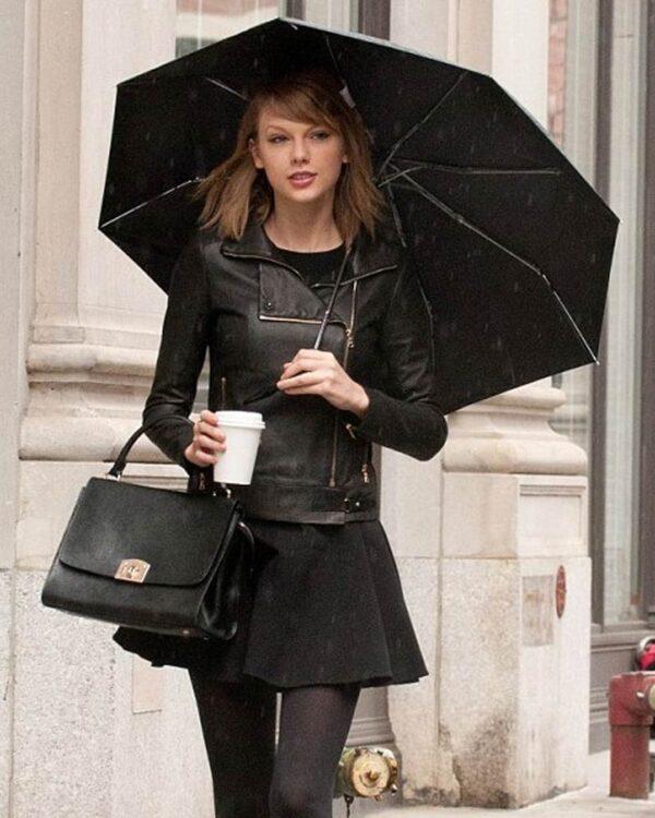 Leather Black Taylor Swift Motorcycle Leather Jacket