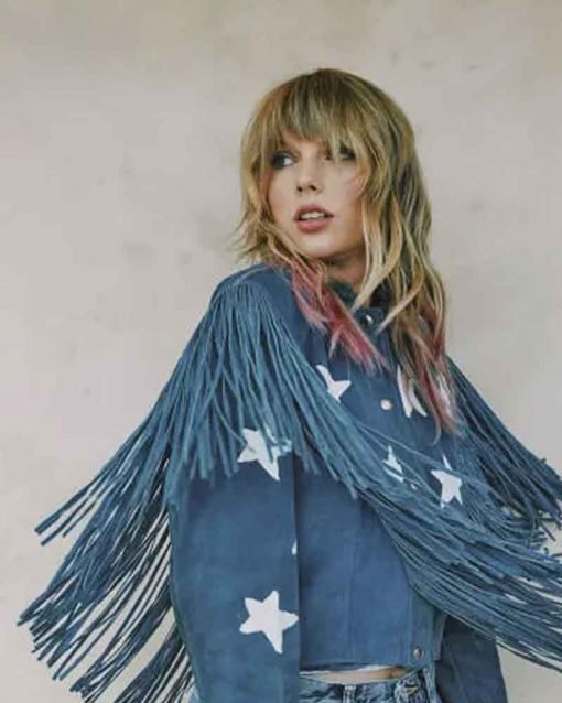Taylor Swift Fringe Blue Jacket