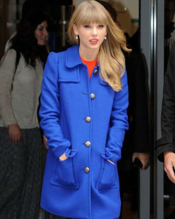 Taylor Swift Blue Wool Coat