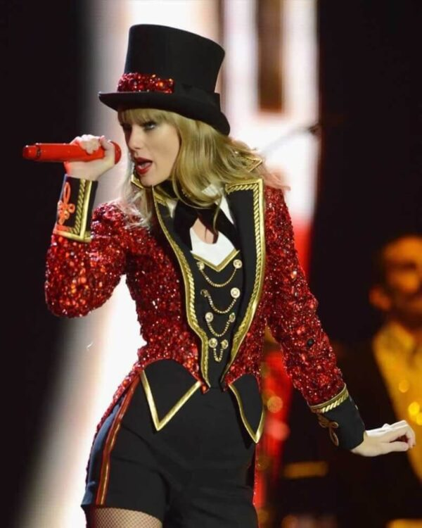 Taylor Swift Red Sequins Coat