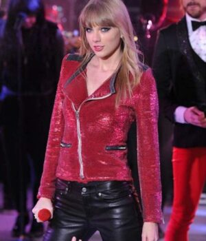 Sequin Motorcycle Taylor Swift Jacket