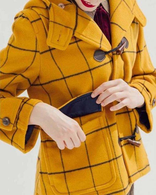 Taylor Swift Mustard Check Coat