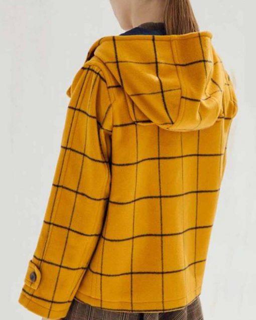 Taylor Swift Mustard Hooded Coat