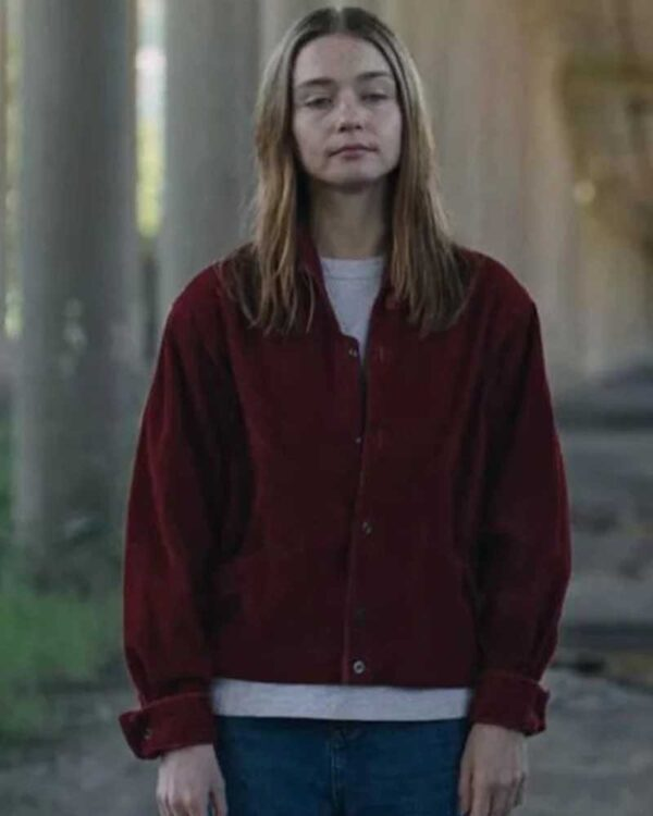 Jessica Barden Red Jacket