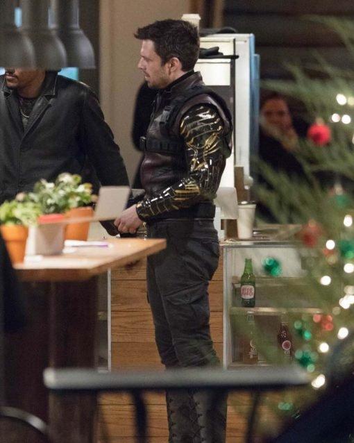 Sebastian Stan Brown Leather Jacket