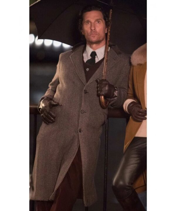 Matthew McConaughey Grey Trench Coat