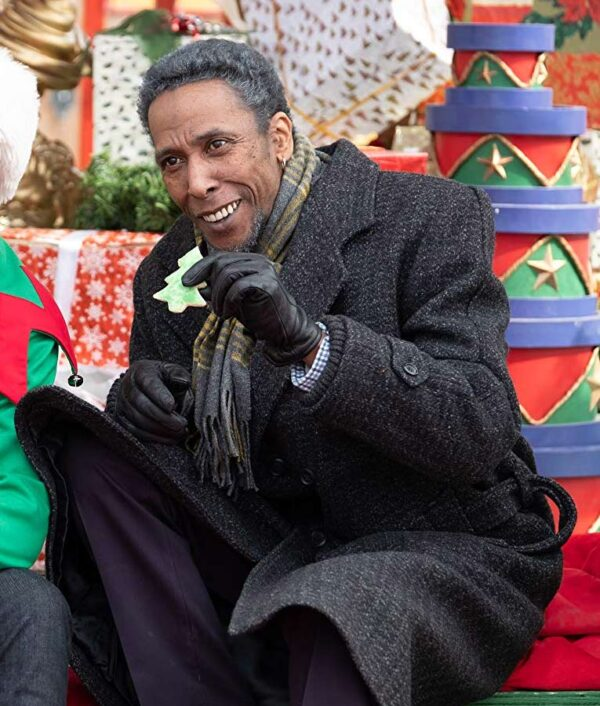 The Holiday Calendar Ron Cephas Jones Grey Wool Coat