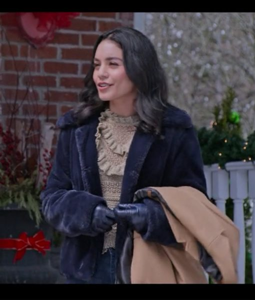 The Knight Before Christmas Vanessa Hudgens Shearling Jacket
