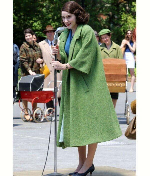 Rachel Brosnahan Green Coat
