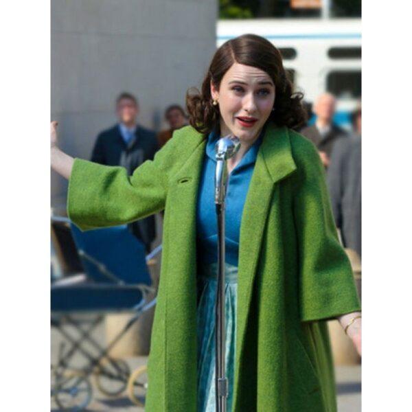 Rachel Brosnahan Green Trench Coat