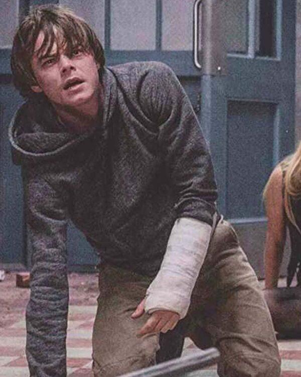 The New Mutants Charlie Heaton Sam Guthrie Grey Hoodie with Hood