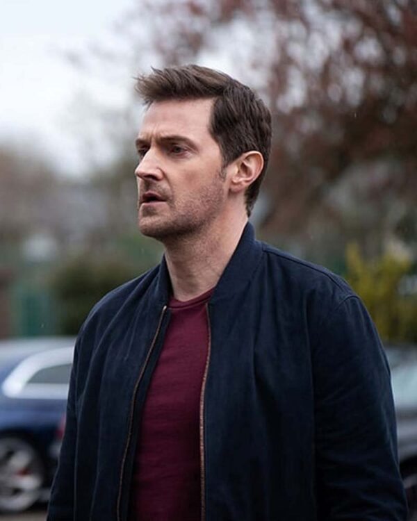 Richard Armitage Blue Bomber Jacket