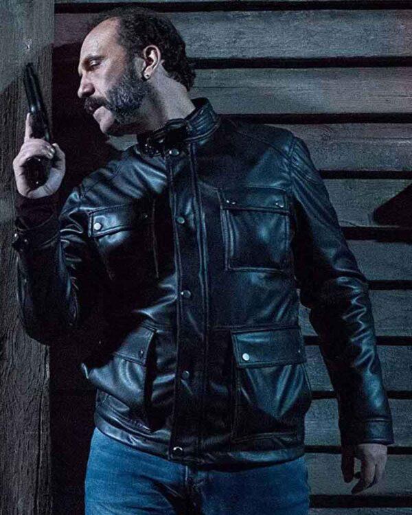 Cristóbal Pinto Black Leather Jacket