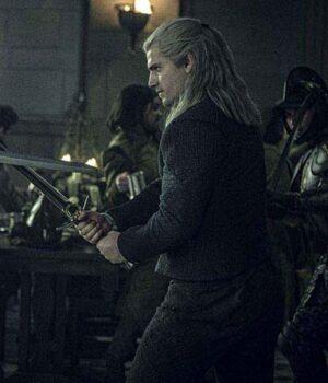 The Witcher Henry Cavill Black Corduroy Jacket