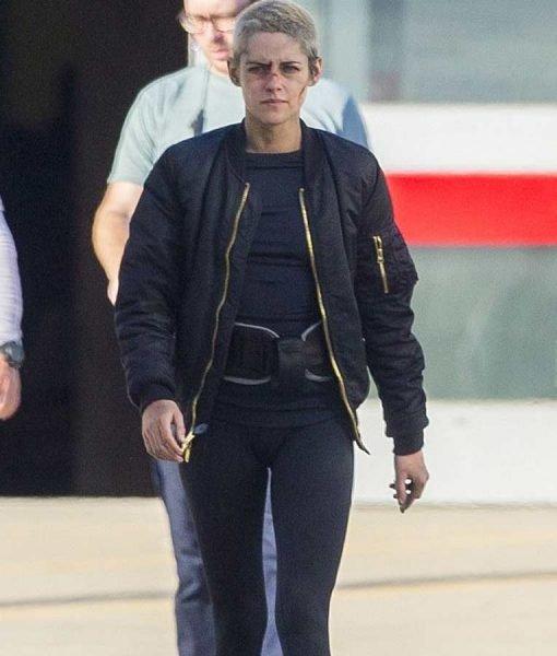 Underwater Kristen Stewart Black Bomber Jacket