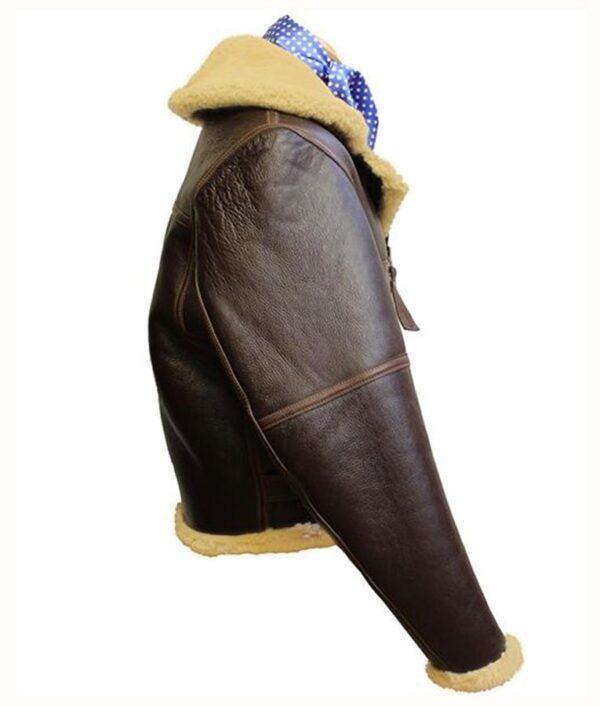 WW2 RAF Sheepskin Leather Fur Jacket