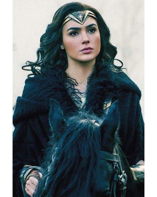 Gal Gadot Black Long Coat