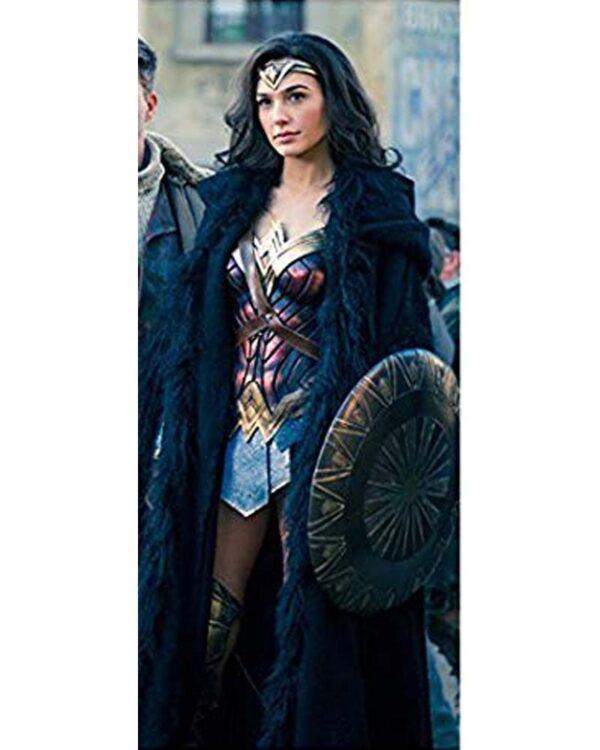 Wonder Woman Gal Gadot Shearling Coat