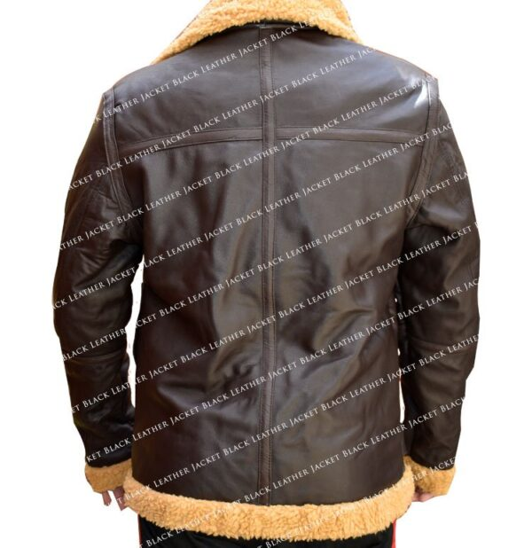 Dunkirk-Tom-Hardy-Farrier-Jacket-Leather Jacket Black-Back